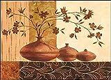 Keilrahmen-Bild - Claudia Ancilotti: Piombino Leinwandbild Stillleben modern floral braun (60x80)