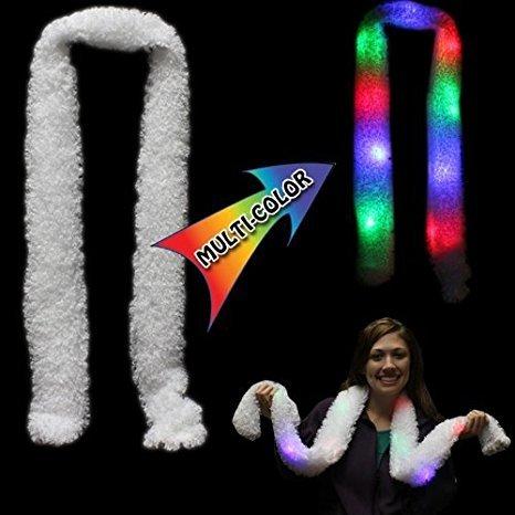 Rabi Weicher, weißer Schall mit mehrfarbigen LED-Leuchten für Partys, Lichtshows, Joggen, Laufen, Fahrradfahren, Weihnachten, Geschenke