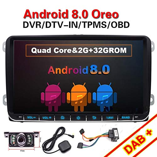 FOIIOE 9 Pulgadas Doble DIN Android 8.1 Compatible para VW Golf Android...