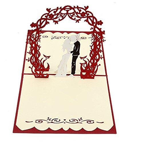 endlosschenken Hochzeitskarte 3D Pop-Up Glückwunschkarte zur Hochzeit Brautpaar