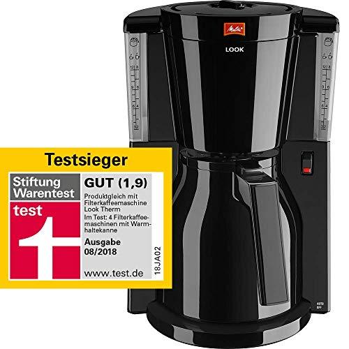 Melitta Look Therm 1011-10, Filterkaffeemaschine mit Thermkanne, AromaSelector, Schwarz
