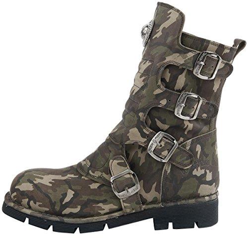 New Rock Camuflaje Verde Stiefel camouflage Camouflage