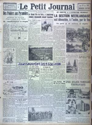 PETIT JOURNAL (LE) [No 25001] du 29/06/1931
