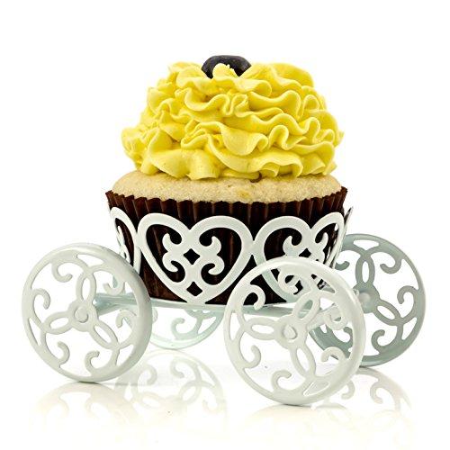 Single Zählen Prinzessin Kutsche Cupcake-Ständer Halter Display von Kochen Upgrades weiß