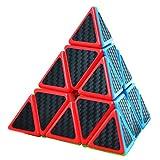 Maomaoyu Piramide Cubo 3x3, Pyramix Speed Cube 3x3 Fibra di Carbonio, Puzzle Rompicapo per Adulti e Bambini?Nero?