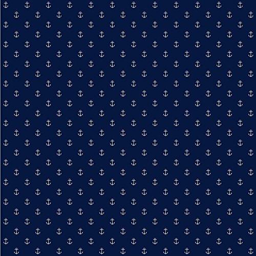 York Wallcoverings Anker Living Spot Tapete, Blue .161, Wallpaper