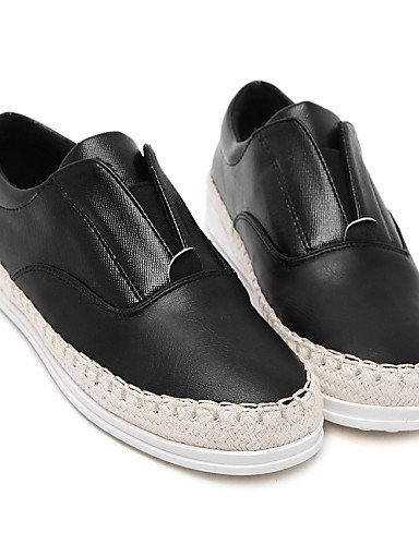 ZQ gyht Scarpe Donna-Mocassini-Casual-Comoda-Piatto-Di pelle-Nero / Bianco / Argento , silver-us8.5 / eu39 / uk6.5 / cn40 , silver-us8.5 / eu39 / uk6.5 / cn40 white-us8 / eu39 / uk6 / cn39