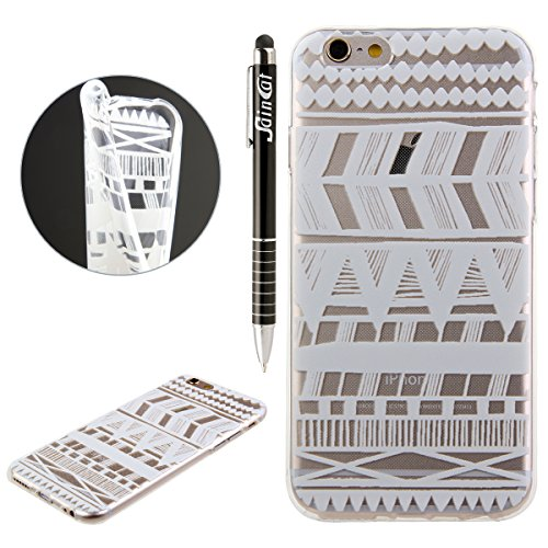 iPhone 6S Hülle, iPhone 6 Hülle, iPhone 6 / 6S Silikon Crystal Case Hülle mit Malerei Muster, SainCat Weiche Transparent Silikon Schutzhülle Hülle Gel Bumper Soft TPU Case Backcase Weiches Crystal Cle Ethnische Tribes