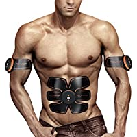 EMS Abs Trainer Ab Belt,Ailida Abdominal Muscles Toner,Body Fit Toning Belts,Ab Toner Fitness Training Gear Machine Home/Office Ab Workout Equipment Machine for Men&Women