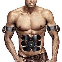 Electrostimulateur Musculaire EMS - Ceinture abdominale Abdominal/Bras /Cuisses Electrostimulation Sans Fil Appareil Fitness USB Charge - Idéal pour les hommes et les femmes