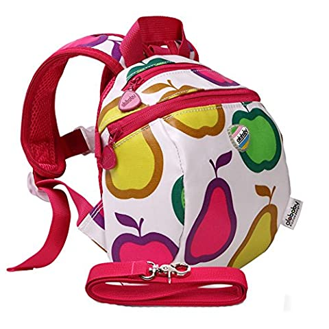 Moonwind Waterproof Kids Toddler Harness Backpack Children Baby Safety Bag with Leash (Fruit)