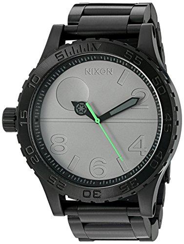 Nixon pour homme '51–30SW, étoile de la mort' à quartz en acier inoxydable montre de style décontracté, couleur: noir (modèle: A172sw-2383–00)