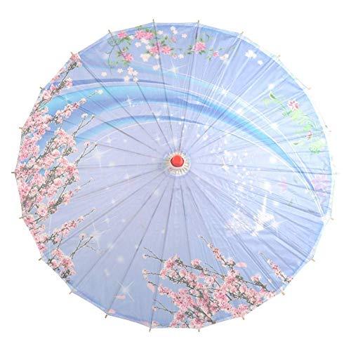 Kostüm Tanz Unternehmens - WSJTT 34-Zoll-Papier wie Sonnenschirm-Regenschirm Chinesische Tuschemalerei-Handwerks-Bambusregenschirm-klassischer Tanz-Leistungs-Requisiten Hauptdekoration for Fotografie Stütze for Hochzeiten Braut