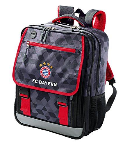 FC Bayern München SCHULRUCKSACK RUCKSACK Classic (Mit Tasche Shirt Klappe)