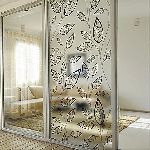 modylee da bagno porta scorrevole Windows Adesivo Colla Pellicola Statica Per Finestre Balcone Decorativo Design (3 Appartamento Porta Panel)