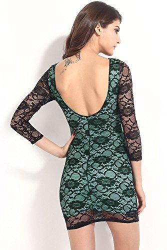Dissa® femme Rouge SY21218-1 mini robe Bleu
