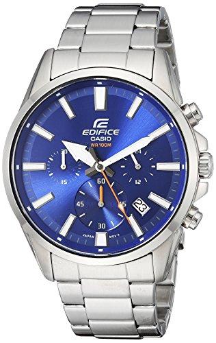 Casio Men's 'Edifice' Quartz Stainless Steel Casual Watch, Color:Blue (Model: EFV-510D-2AVCF)