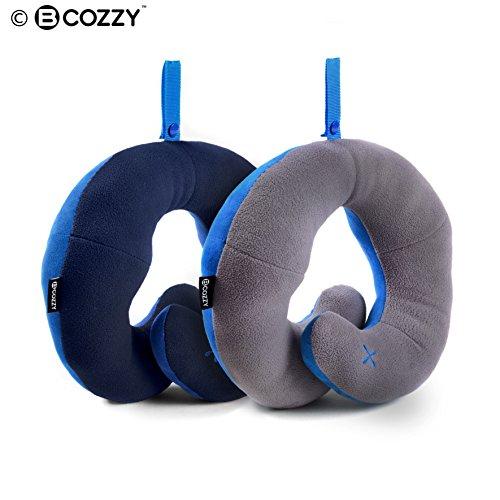 Coussin de voyage BCOZZY avec support pour le menton - soutien la tête, le cou et le menton pour un maximum de confort en position assise, élu meilleu...