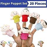 Fingerpuppen-Satz (20-teilig), 6 Familienmitglieder Fingerpuppen, 14 Tierfingerpuppen - ideal zum Geschichtenerzählen, Rollenspiel, Unterricht und Spaß - von BetterLine