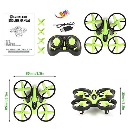 Mini Quadrocopter Drohne, EACHINE E010 Mini Drone RC Quadcopter Spielzeug und Geschenk für Kinder Anfänger - 7