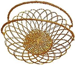 Kabello New Designing Basket, Birthday Gift Pack Basket for Girls, 25 Grams, Golden, Pack of 1