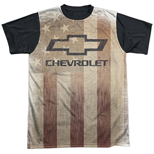 chevrolet-t-shirt-manches-courtes-opaque-homme-blanc-blanc-blanc-