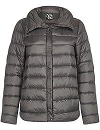 Anastasia Women`s Grey Winter Short Padded Puffa Jacket
