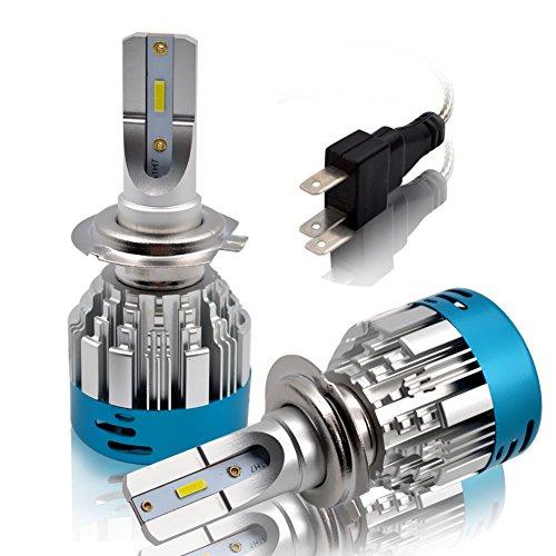 H7 LED Kit Lampadine Faro Auto - Safego 45W 4000LM Kit Conversione LED Automatico Chip LED Sostituisci per Luci Alogene Auto o Lampadine HID 12V