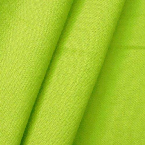 STOFFKONTOR 100% Baumwolle Canvas Stoff Meterware Lind-Grün -