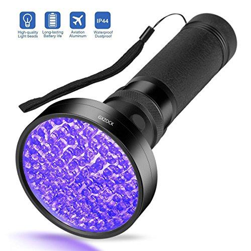 Escolite UV-Taschenlampe Schwarzlicht, Mit UV-Sonnenbrille Ultraviolett-Schwarzlicht-Detektor Für Hundurin, Haustierflecken Und Bettwanze (100 LED-UV-Taschenlampe)