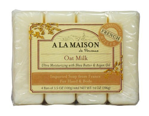 A La Maison Soap Bars Value Pack, Oat Milk, 4 Count by A La Maison (English Manual)