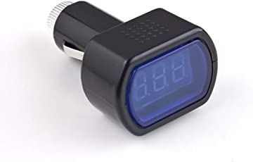 Mazur Universal LED Digitalanzeige Zigarettenanzünder Elektrische Spannung Meter fit Auto Auto Fahrzeug Batterie Monitor Voltmeter Schwarz