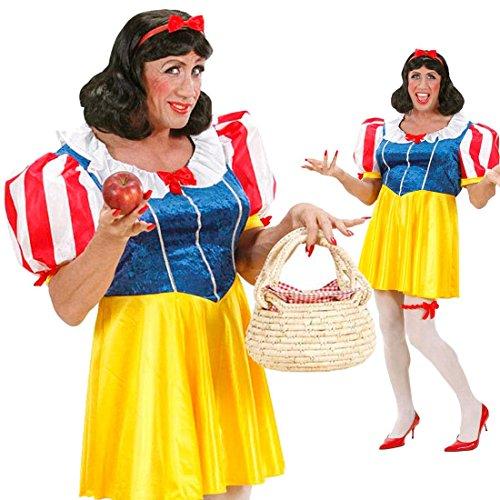 (Herren Schneewittchen Kostüm Drag Queen XL 54/56 Schneewittchenkostüm Männer Kleid Junggesellenabschied Kostüm)
