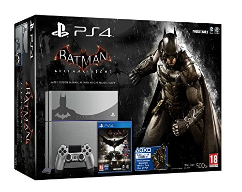 Console PlayStation 4 - steel grey + Batman Arkham Knight - édition limitée