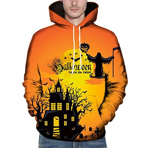 2019 heißer Hip Hop Hoodies Sweatshirts Halloween-Thema Männer Kühlen Casual Druck Herbst Plus Größe (Hip Hop Halloween 2019)
