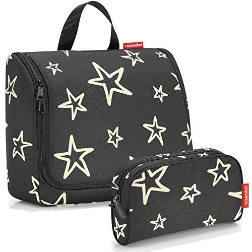 reisenthel Exklusiv-Set: toiletbag XL 28x25x10cm große Kulturtasche zum aufhängen aufklappbar + GRATIS makeupcase - Stars (Sterne)