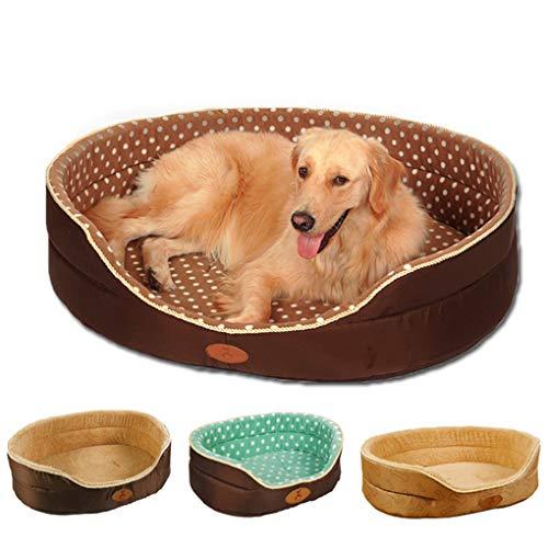 Hundebett Haussofa Hundehütte Doppelseitig zu jeder Jahreszeit verfügbar Großes, extra großes, weiches Fleece-Haustier Hund Katze Warmes Bett,D,XL