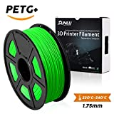 SUNLU PETG 3D Printer Filament, PETG green Filament 1.75 mm, 3D Printing filament Low Odor Dimensional Accuracy +/- 0.02 mm, 2.2 LBS (1KG), Green