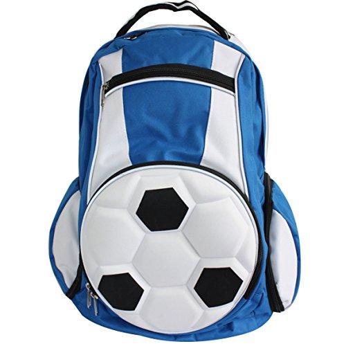 Diapolo Fußball Rucksack Sporttasche Tasche mehrere Farbzusammensetzung royalblau - weiß