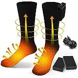 BAOTWO Verwarmde sokken, elektrische verwarmingssokken voor mannen en vrouwen, winterwarme katoenen sokken voetwarmers verwar