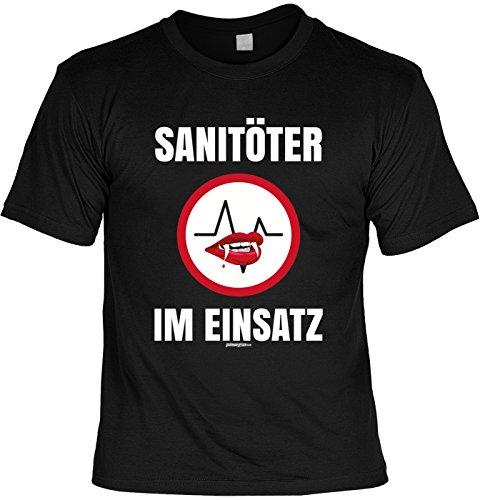 Halloween T-Shirt - Sanitöter im Einsatz - gruseliges Shirt als lustige Alternative zum Halloween Kostüm