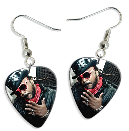 Skindred (JC) 2 X Live Performance Chitarra Plettro Earrings Orecchini