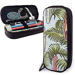 Étui à crayons en cuir PU avec fermeture à glissière, porte-stylo pour planche de surf, sac de maquillage cosmétique, pochette à crayons pour organisateur de papeterie