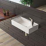bad1a Gäste WC Waschtisch Keramik Waschbecken Weiß Handwaschbecken Badezimmer
