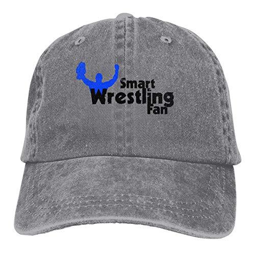 Hoswee Unisex Kappe/Baseballkappe, Wrestling Cowboy Cap Adjustable Snapback Baseball Hat Gray