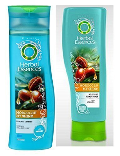 Herbal Essences Moroccan My Shine Set Shampoo & Conditioner with Argan Oil. Bundle with Beauty tips sheet.