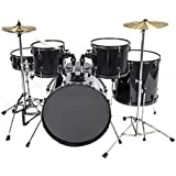 FDS 5 Piece All-In-One Adult Drum Set Cymbals Full Size Drum Kit