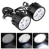 VGEBY Universal Motorrad LED Lampe Scheinwerfer Nebel Licht Scheinwerfer Fahren Auxiliary Light (Pack von 2)