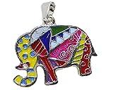 Colgante de Metal, Diseño de Elefante, Multicolor
