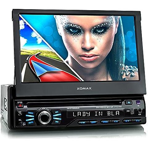 XOMAX XM-DTSBN929 Radio de coche / Autoradio 1DIN con Navegación GPS con Mapas de Europa (48 países) + Bluetooth Manos libres + 7